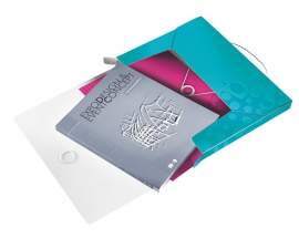 Plastic Box File สี Ice blue