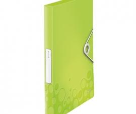 Plastic Box File สีเขียว