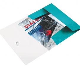 Lyreco ซองเก็บเอกสาร 3 Flap ยี่ห้อไลซ์ สี Ice Blue