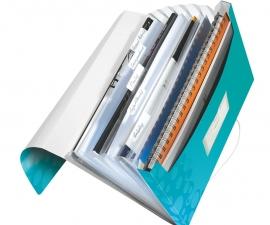 แฟ้มกระเป๋าเก็บเอกสาร Project File ยี่ห้อไลซ์ สี Ice Blue